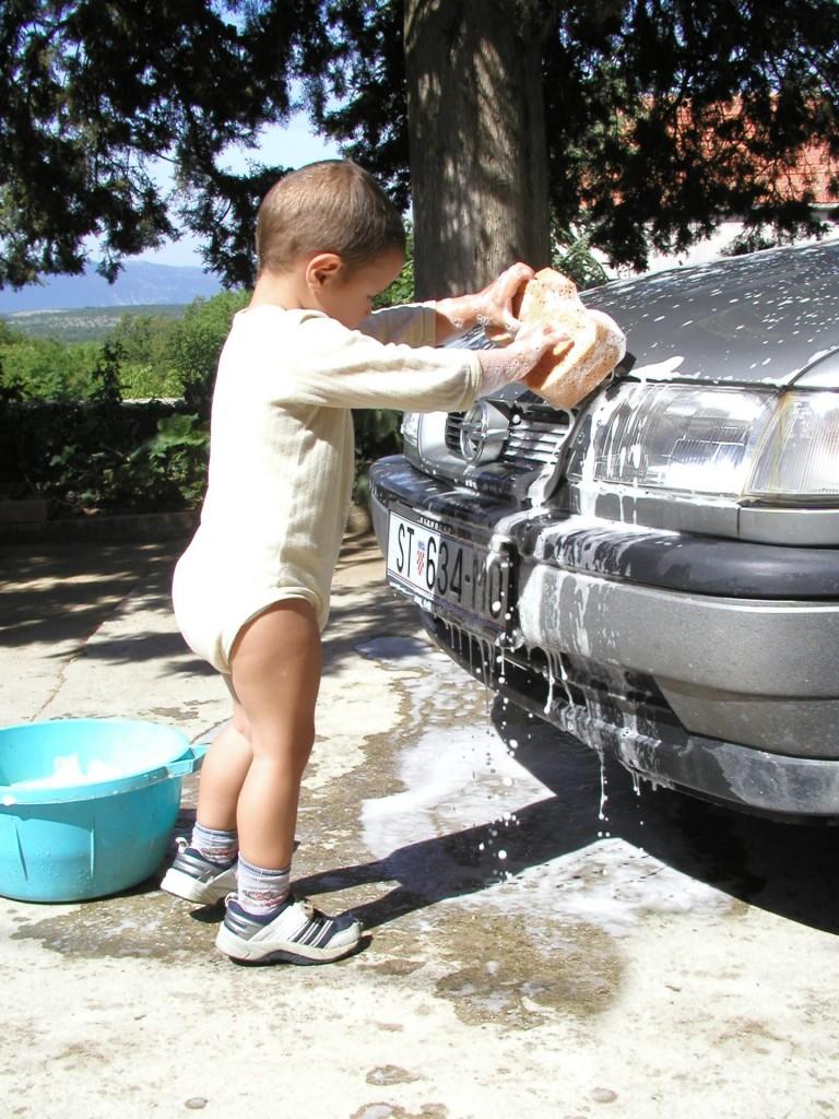 子供の洗車